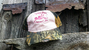 Ladies White/Pink Mossy Oak Hat